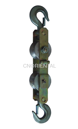 OPGW hold down pulley blocks