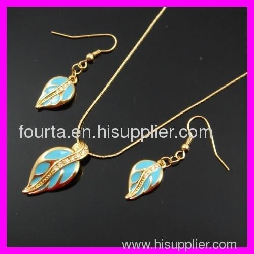 fashion 18k gold plated set