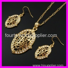 fallon 18k gold plated set