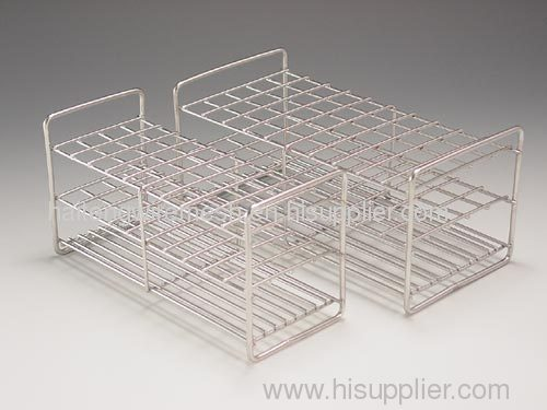 Laboratory equipment stainless steel test tube rack from