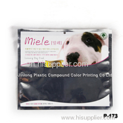 three side sealed pet bag