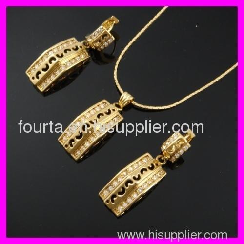 elegant 18k gold plated set