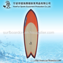 PU surfboard+logo+fiber+fin set up