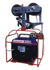 self running traction machine for aerial conductor replacing and OPGW stringing