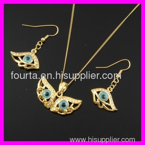FJ gold jewelry 18k gold plated set