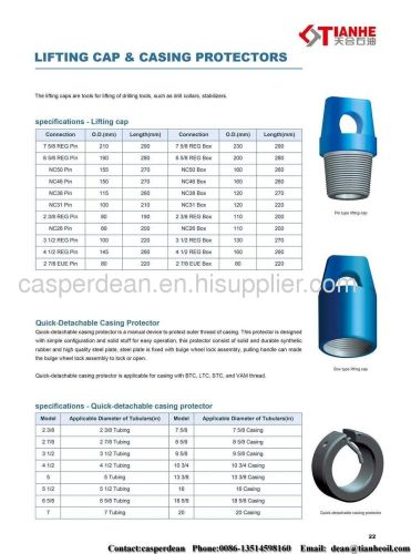 Lifting cap and casing protector manufacturer from china