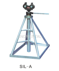 hand operated simple drum lifting jack for manual stringing