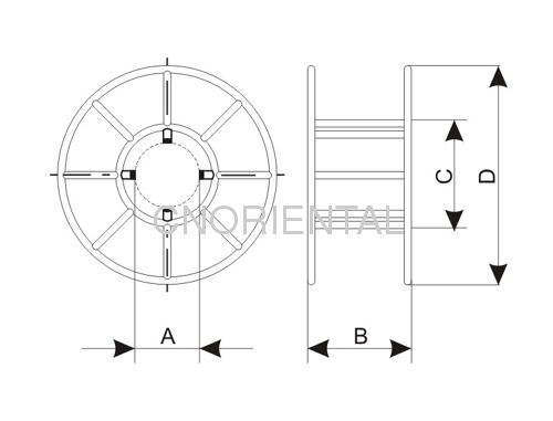 puller tensioners steel wire rope reel from china