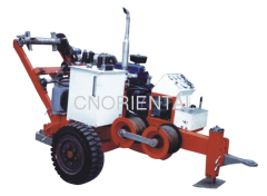 overhead power line conductor stringing machine