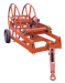 steel wire rope reel winder reel carrier for conductor stringing puller tensioner