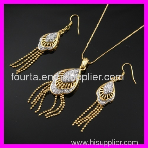 two colors 18k gold plated set