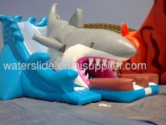 Shark large inflatable water slide