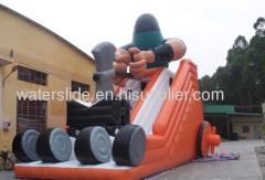 inflated water slides