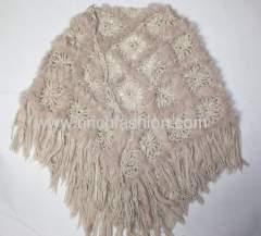 real fur shawl