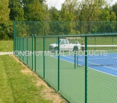 Galvanized green Chain Link Fence