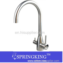Stainless steel Hot Cold And Filtered Water Tri-flow Faucet