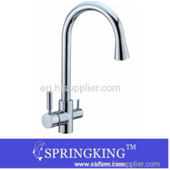 Hot And Cold Water And RO filter Chrome Kitchen Sink Faucet