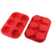 6 Cavities Silicone Cake Mold -- Muffin