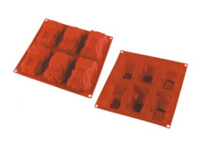6 Cavities Silicone Cake Mold -- Car