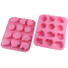 Cute 12 Cavities Silicone Chocolate & Cookie Mould/ Ice Cube