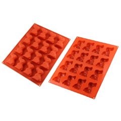 16 Cavities Silicone Chocolate & Cookie Mould -- Dog Shape