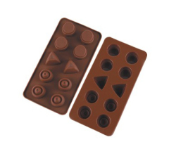 10 Cavities Silicone Chocolate & Cookie Mold