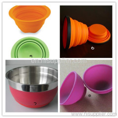 Silicone bowl