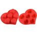 Heart Pattern Silicone Cake Mould --6 cup muffin