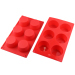 6 Muffin Silicone Cake mold Pan Baking Mold Freezing Moulds