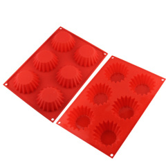 6 Muffin silicone cake baking tray
