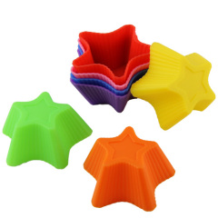 Mini Silicone Cake Baking Mould /Cupcake /Sauce Dishes - Star Pattern
