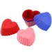 Mini Silicone Cake Baking Mould /Cupcake /Sauce Dishes - Heart Pattern