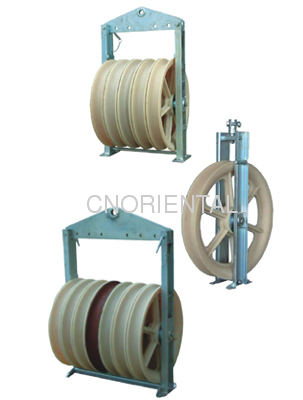 660mm Large diameter steel wire rope tension stringing pulley block ...