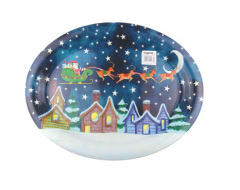 Novelty Plastic Tray -- X'mas