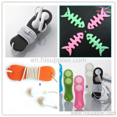 silicone earphone cable winder