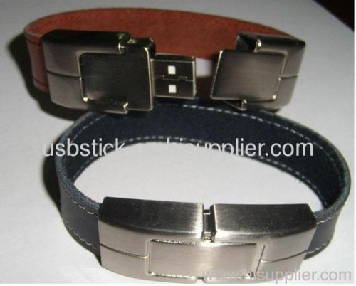 leather bracelet usb flash drive