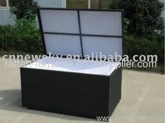 PE rattan outdoor KD cushion box
