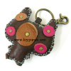 Leather Key Chain Ring