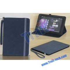 Elegant Folding PU Leather Stand Case Cover for Samsung Galaxy Tab P7510/ P7500(Black)
