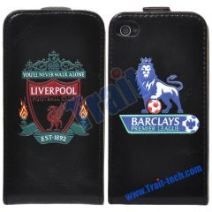 Liverpool Football Club Flip Leather Case for iPhone 4