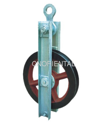 High speed re-directional turning pulley block