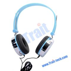 Blue Star Pattern Headset Headphone for PC Computer 3.5mm Jack