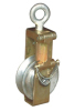 Conductor sagging end pulley block