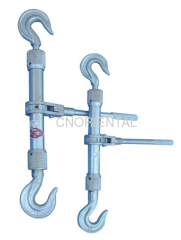 Sleeve type double hook turnbuckle