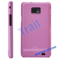 Pink Rubberized Hard Case Cover for Samsung Galaxy S2 II I9100