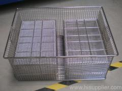 Net basket of food sterilization machine