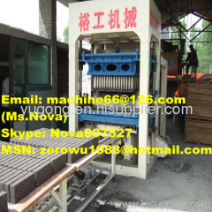 Fly ash hollow brick/block making machine