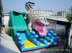 Crocodile big inflatable slides