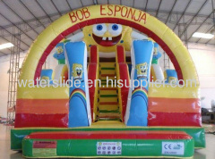 inflatable Spongebob slide