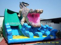 crocodile big commercial inflatable waterslide